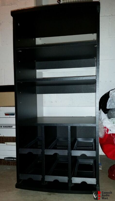 Ikea Smolt Stereo Media Cabinet With Glass Door Photo 2080474