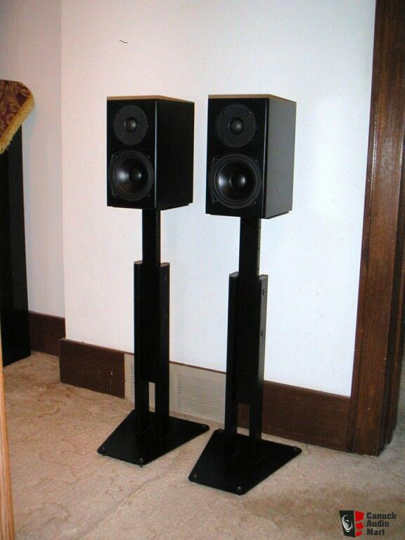 Totem mite bookshelf speakers api adjustable speaker for Totem stand