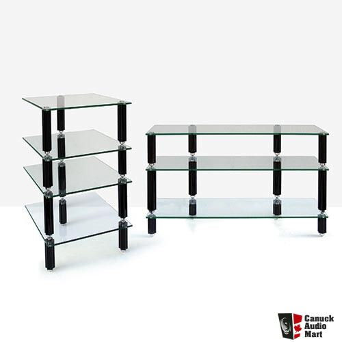 lovan legacy series hifi glass shelf audio rack in piano black finish photo 295941 canuck. Black Bedroom Furniture Sets. Home Design Ideas
