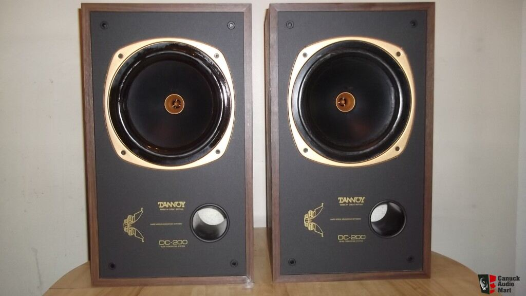 tannoy dc 200 in walnut finish split shipping paypal. Black Bedroom Furniture Sets. Home Design Ideas