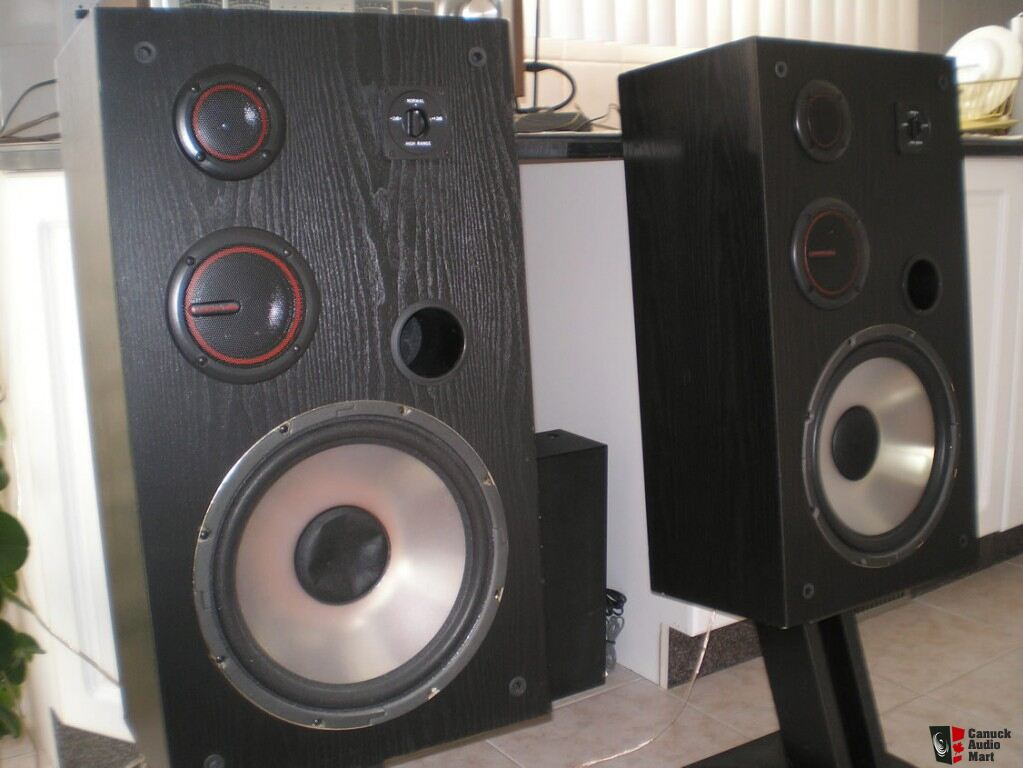 acoustic audio h cd12 floor standing speakers photo
