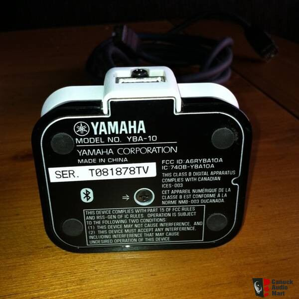 Yamaha Yba 10 Bluetooth Receiver Dock Photo 363257
