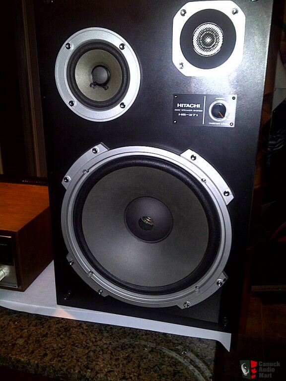 hitachi speakers. hitachi speakers hs-371 with odd woofers hitachi n