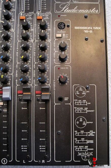 Vintage STUDIOMASTER SESSION MIX 16-2 16 Channel Mixing Board