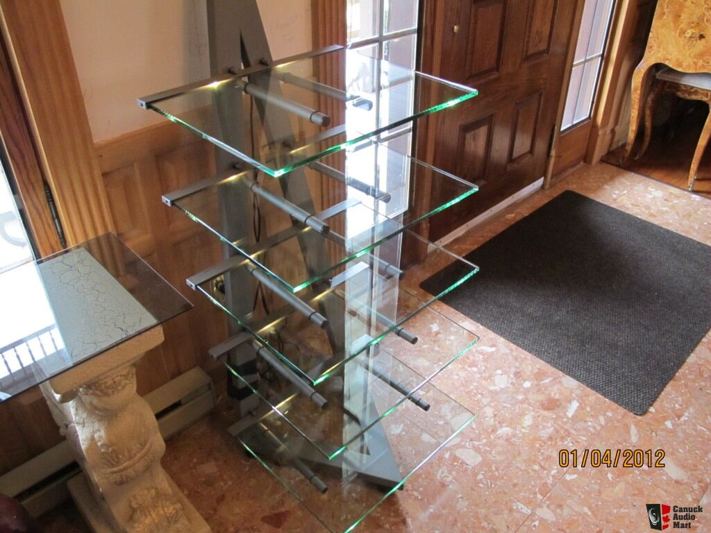 schroers schroers glass audio rack photo 439028 canuck audio mart. Black Bedroom Furniture Sets. Home Design Ideas