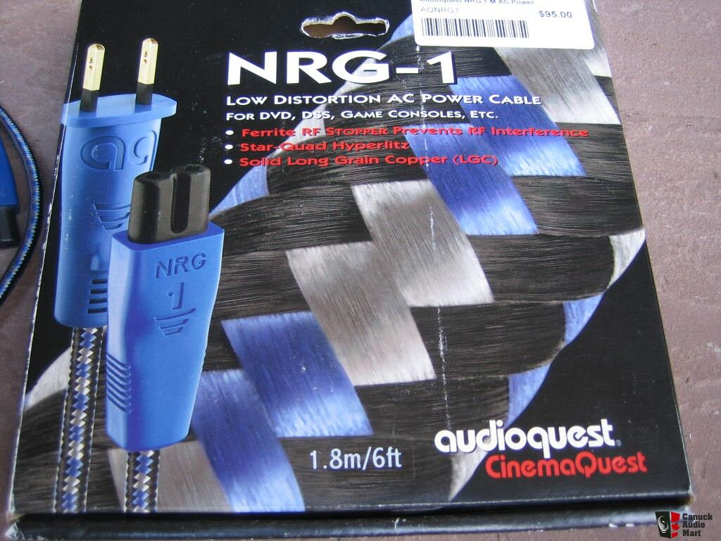 Audioquest Nrg 1 Power Cord With C7 2 Pin Connector