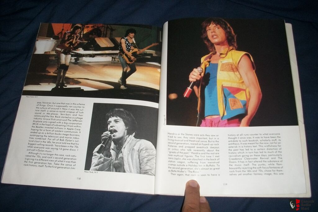ROLLING STONES Last Tour Book 1982 First Print Photo #461059