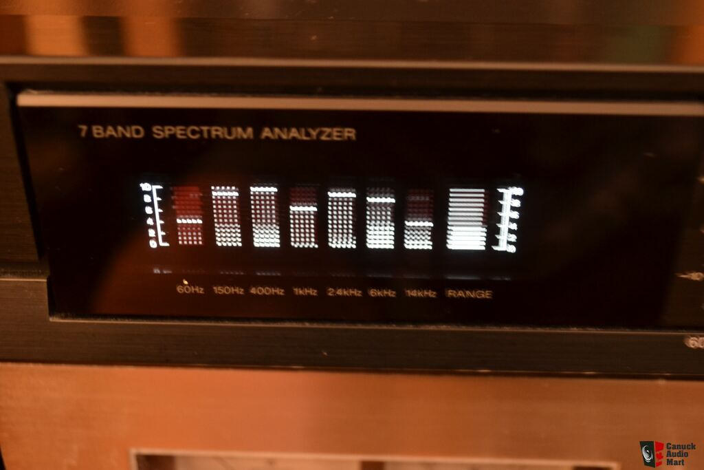 Sony Graphic Equalizer With Spectrum Analyzer Excellent