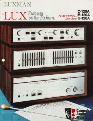 Luxman M-120A, G-120A, C-120A with rosewood case Photo ...
