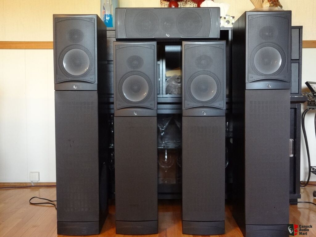Infinity Reference System Rs8 W Powered Subs Cc2 Center And Rs4