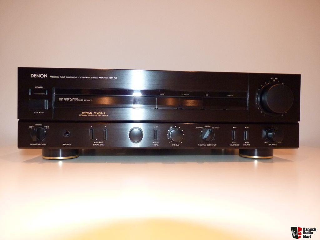denon pma 720 integrated amplifier photo 489110 canuck audio mart. Black Bedroom Furniture Sets. Home Design Ideas