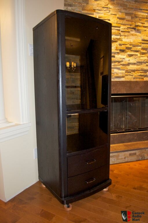 tall av component cabinet priced to sell photo 506357 canuck audio mart. Black Bedroom Furniture Sets. Home Design Ideas