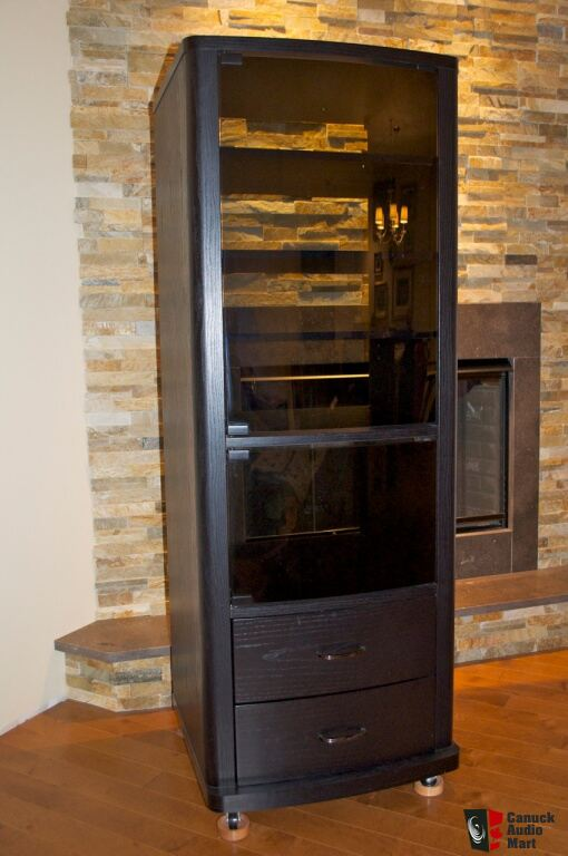 tall av component cabinet priced to sell photo 506360 canuck audio mart. Black Bedroom Furniture Sets. Home Design Ideas