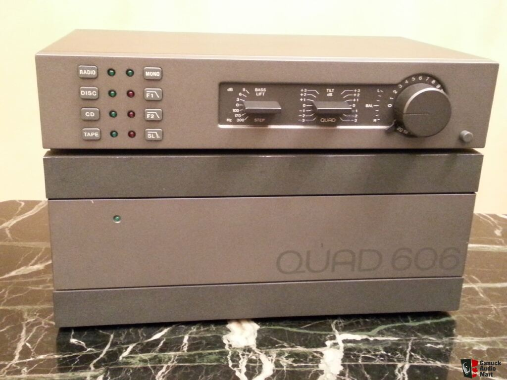 Quad 606 Power Amp And 34 Preamp With Phono Photo 527228
