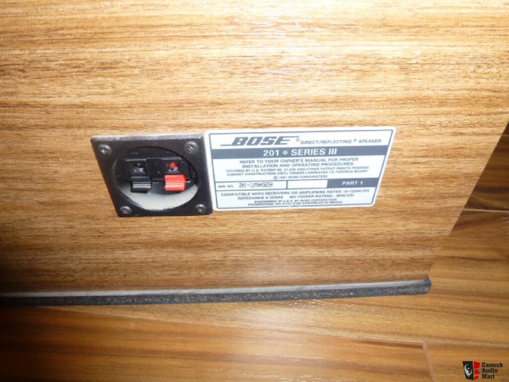 BOSE 201 SERIES 3 WALNUT CABINET Photo #548984 - Canuck ...