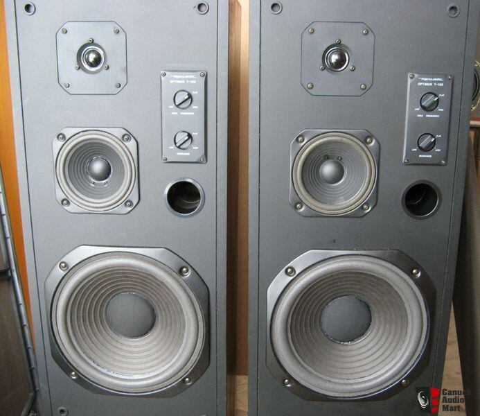 Realistic Optimus T 120 Speakers Beautiful Cabinets On