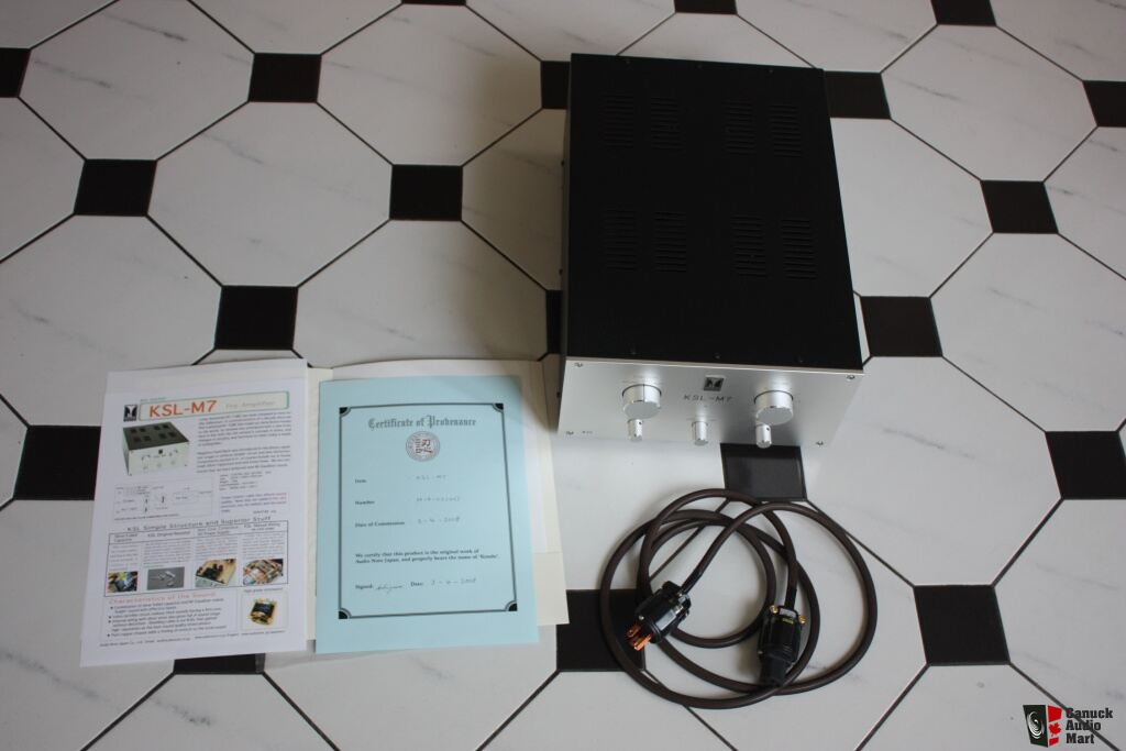 Kondo Audio Note KSL M7 preamp with phono