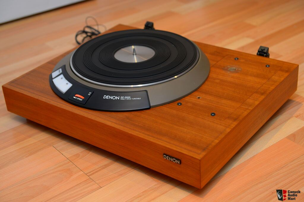 denon dp3000 direct drive turntable motor and base