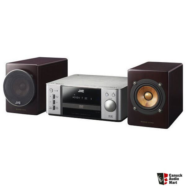 JVC EX-A3 Receiver With Wood Cone Speakers DVD Player