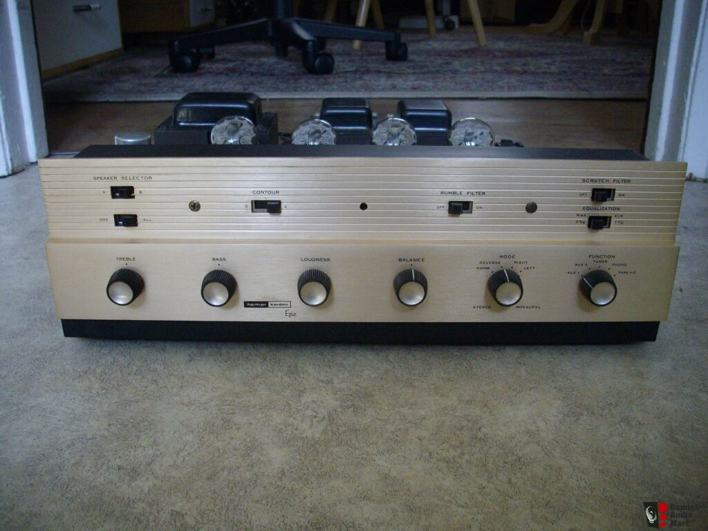 vintage harman kardon epic stereo tube amplifier. Black Bedroom Furniture Sets. Home Design Ideas