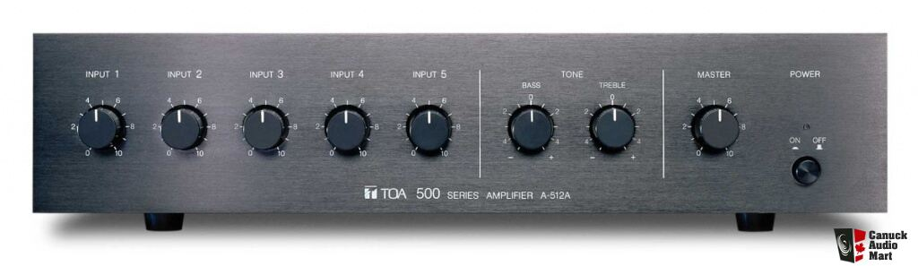TOA A-512A 120 Watt 6-channel 500 Series Mixer Amplifier