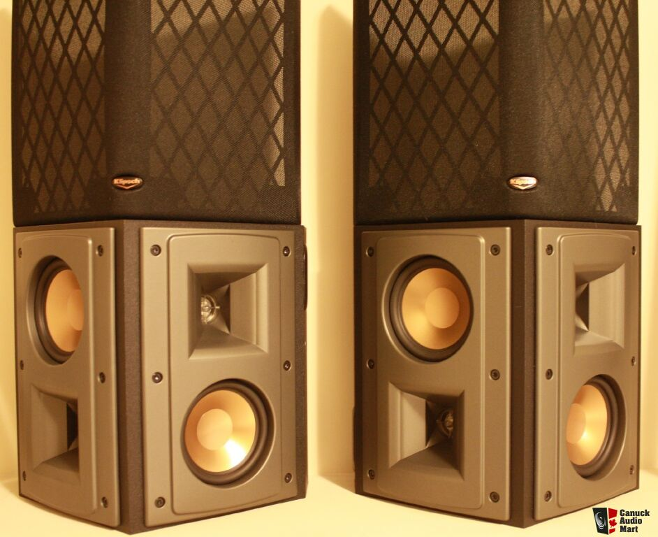 klipsch ref iv rs42 rs 42 dual 4 surround bookshelf speakers photo 595957 us audio mart. Black Bedroom Furniture Sets. Home Design Ideas