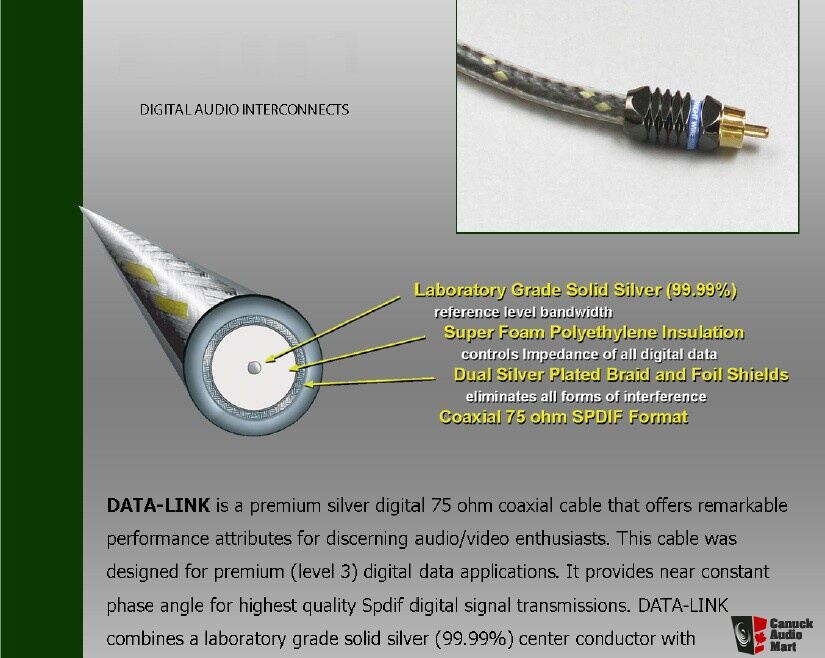STRAIGHTWIRE MEGA-LINK II DIGITAL COAXIAL CABLE - 1M Photo