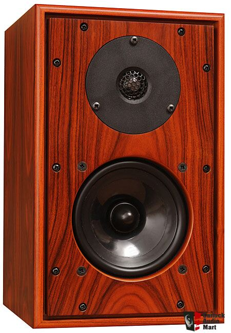 Harbeth P3ESR Rose Wood w/ custom build matching colour wood speaker stand