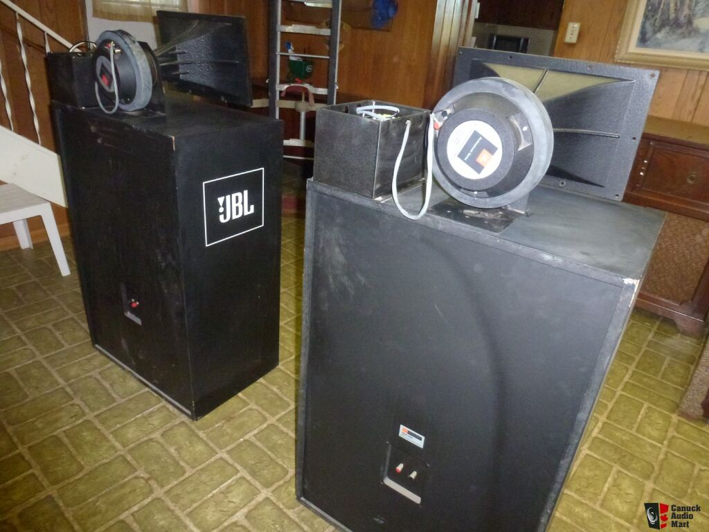 speakers jbl professional. pair jbl professional 4508 theatre speakers 2225h woofer 2445j driver 2380 horn speakers jbl professional