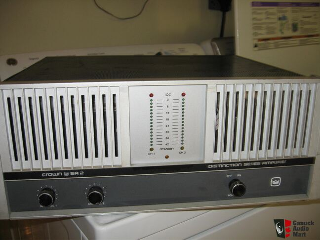 Vintage Crown SA-2 Power Amplifier-As Is Sale-For Parts or Service