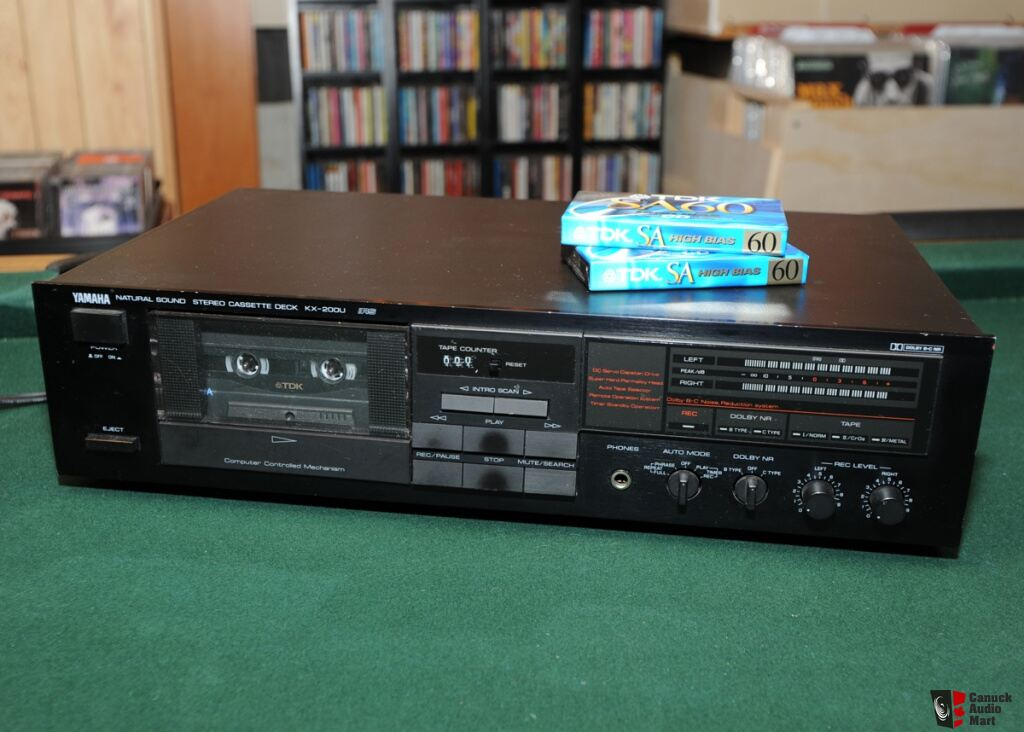 Yamaha KX-200U tape deck with 2 TDK sealed blank tapes