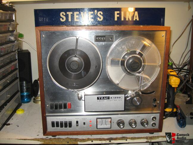 Teac A 1200 Reel To Reel Tape Deck Just Serviced Photo