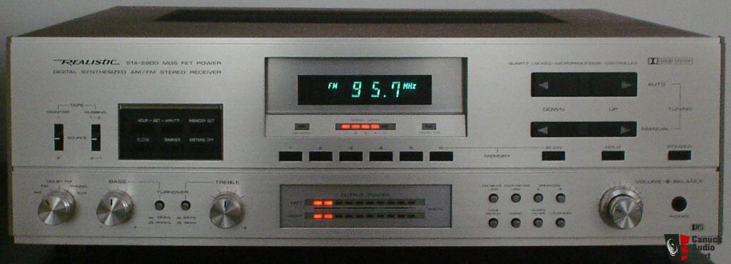 Realistic STA-2200 MOS FET Power Digital Synthesized AM/ FM Stereo Receiver + Owner's Manual (pdf)