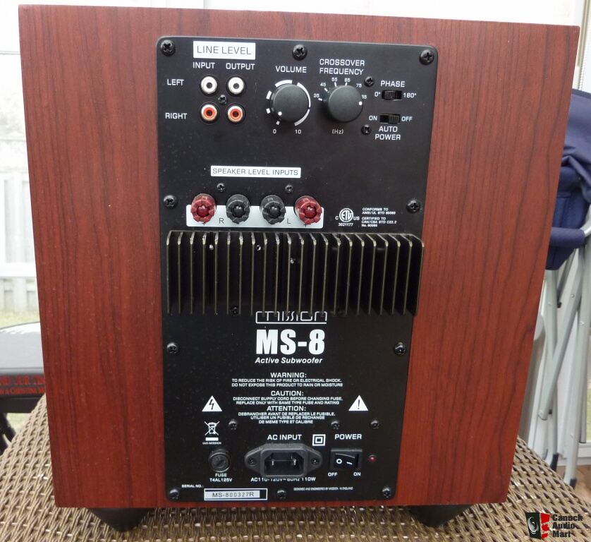 Mission MS-8 Powered Subwoofer In Mint Condition Photo