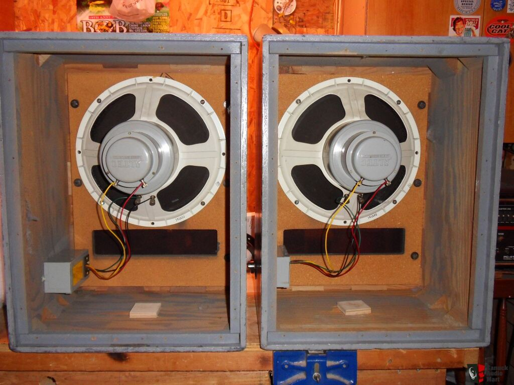 altec 604e and n-1500-a crossovers in altec 612 cabinets Photo ...