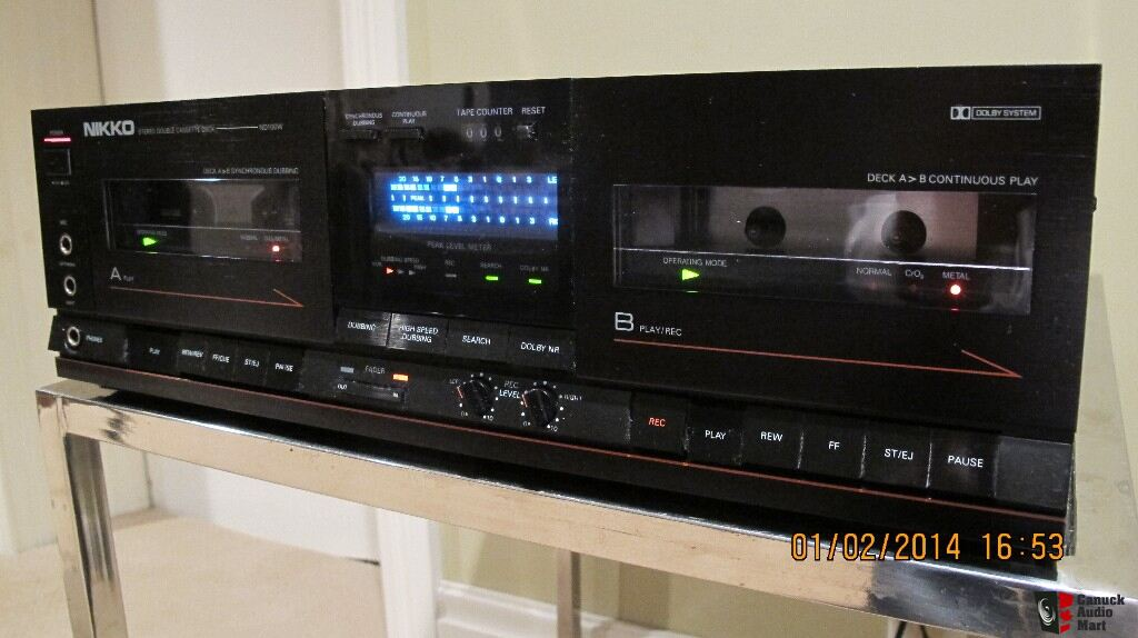 Nikko Stereo Double Cassette Deck Model Nd100w Photo
