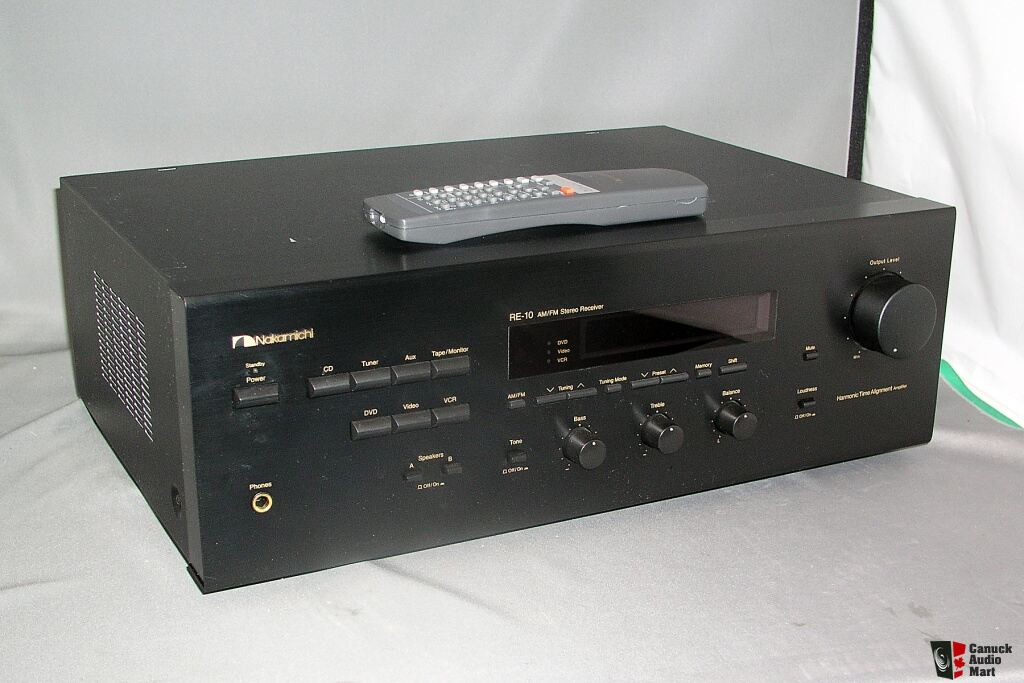 Nakamichi Re 10 Re10 Stereo Receiver Am Fm 190 Or B O