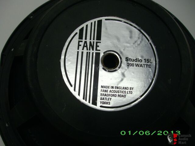 Fane Studio 15l Speaker Photo 695346 Us Audio Mart