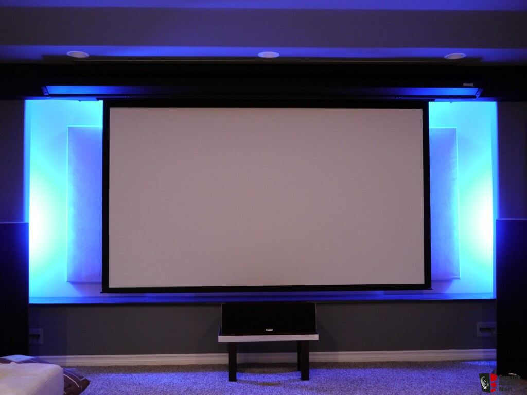 da lite 106 16 9 motorized projection screen with high