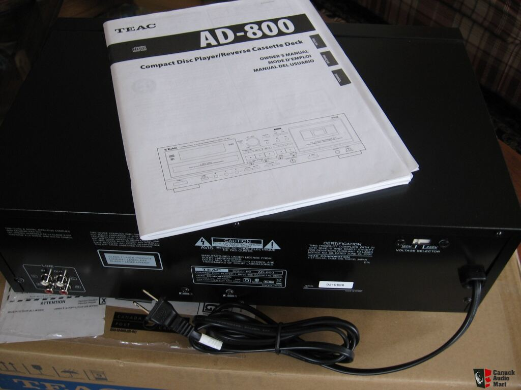 TEAC AD 800 CD Player / Cassette Deck / USB Player Recorder