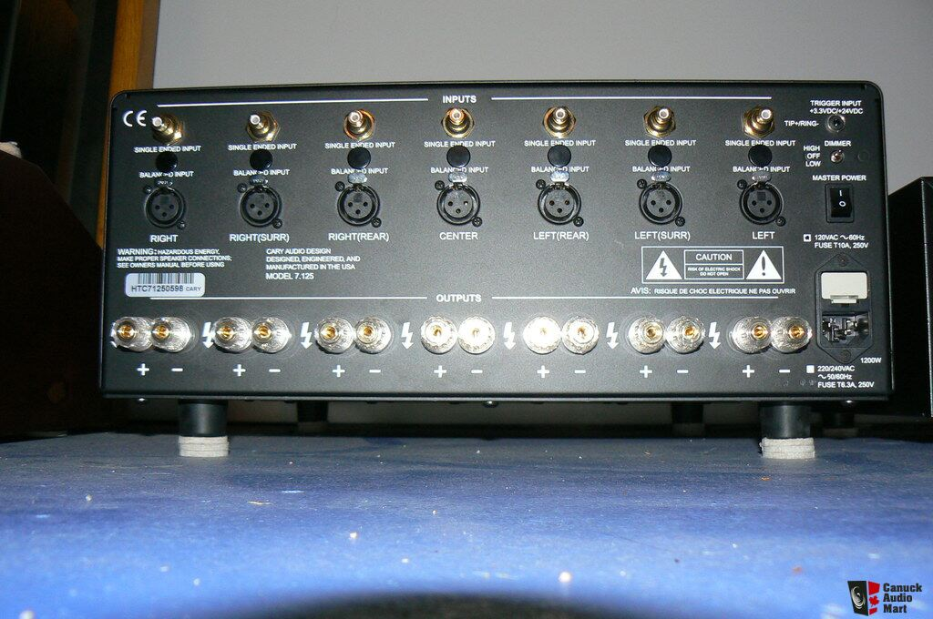 Cary Audio 7.125 7 Channel amp 60lb power house, 125 watt per ...