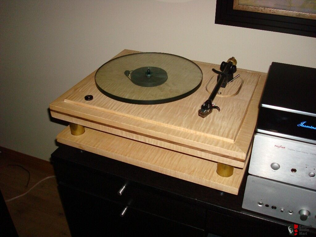Rega P3 Custom Made Two Tier Maple + Walnut Turntable