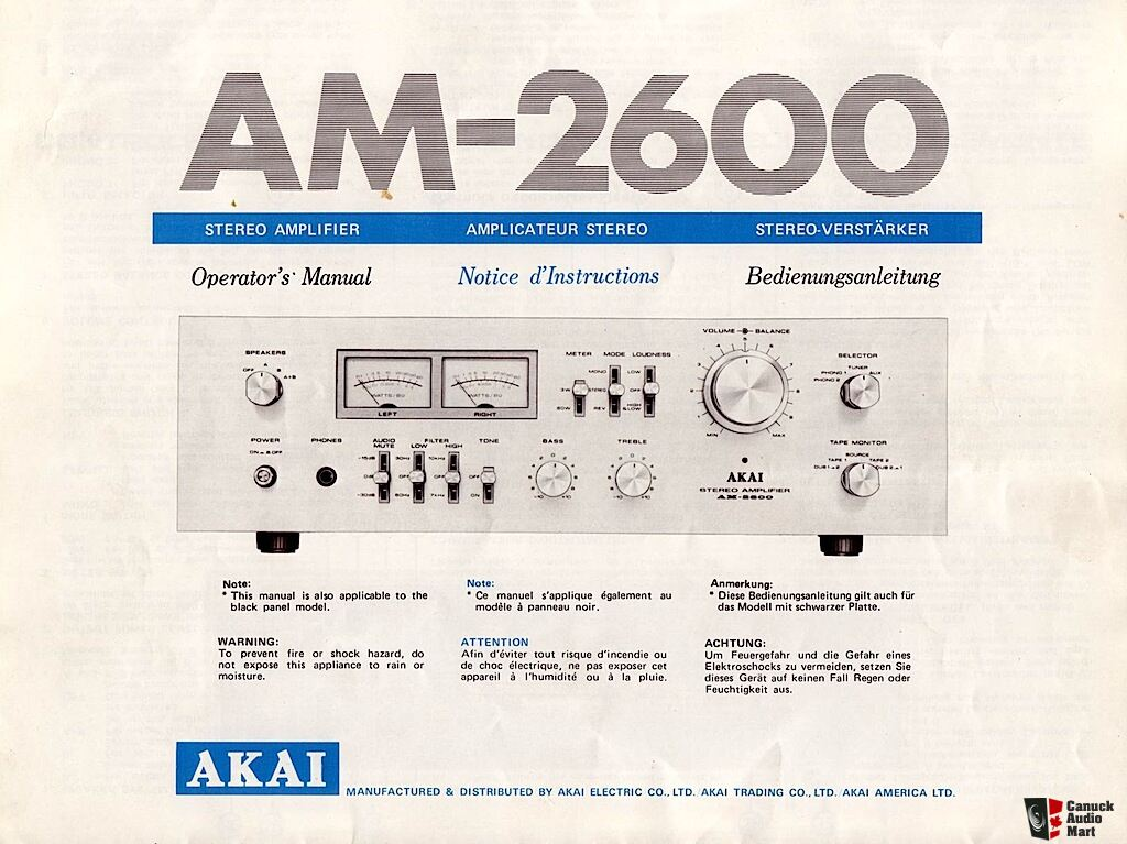 Akai, Technics and Realistic Owner's Manuals/Brochures Photo