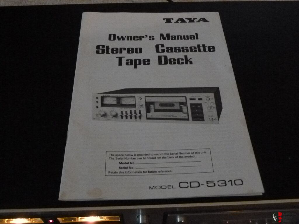 Taya cd 5310 cassette deck with logic control photo 775614 aussie taya cd 5310 cassette deck with logic control publicscrutiny Choice Image