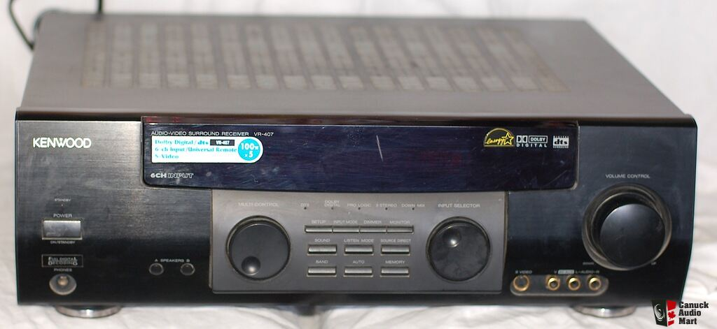 Kenwood Vr 407 Surround A V Receiver Photo 786085 Us