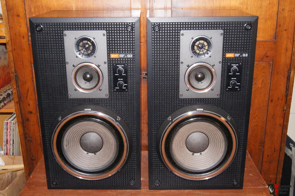 Pair Sony Ss G3 Speakers Approx 1000 In 1977 Carbocon
