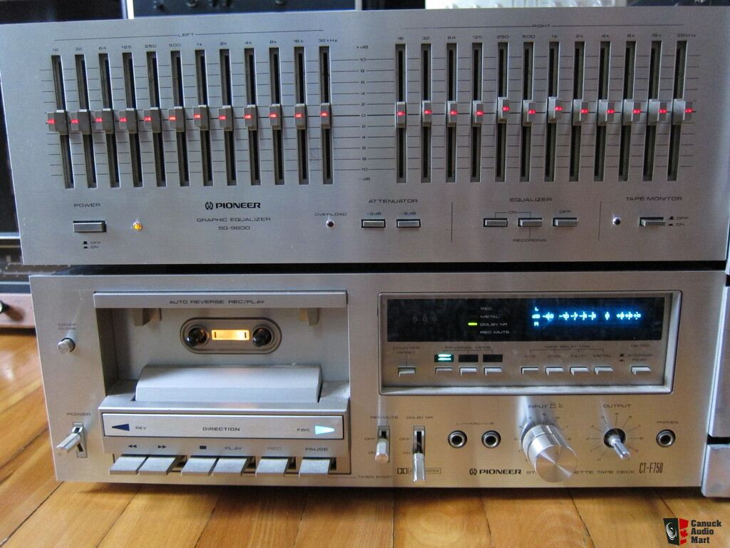 Pioneer SPEC 1 + 2 Pre and Power Amplifier Equalizer SG-9800 Tape