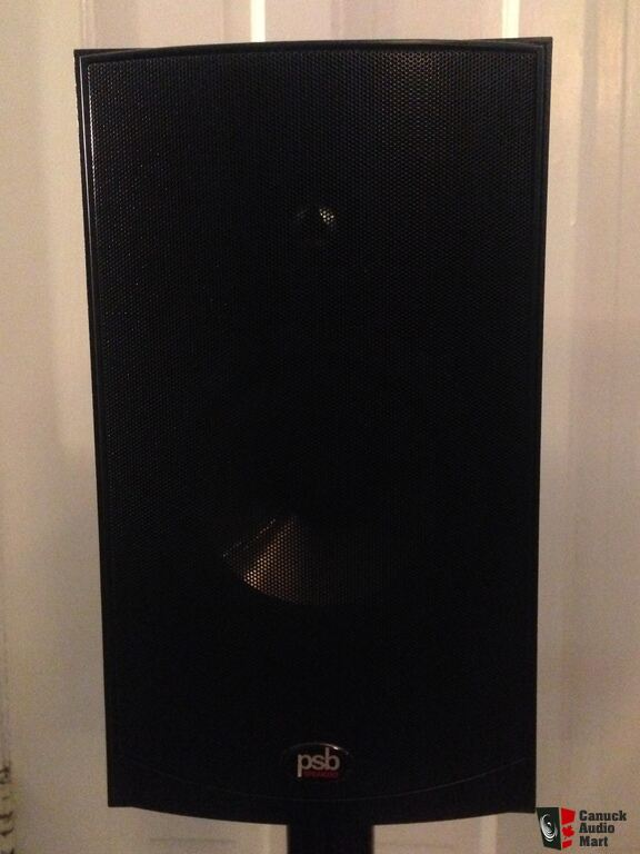PSB Alpha B1 Bookshelf Speakers With Target Stands