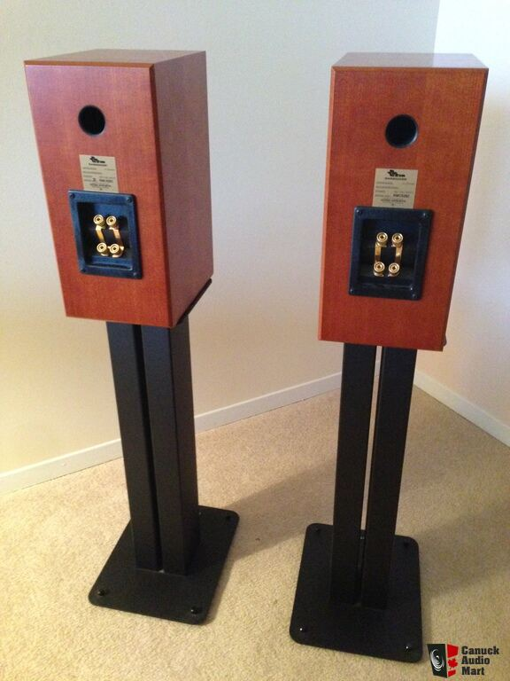 Totem rainmaker speakers pair with stands photo for Totem stand