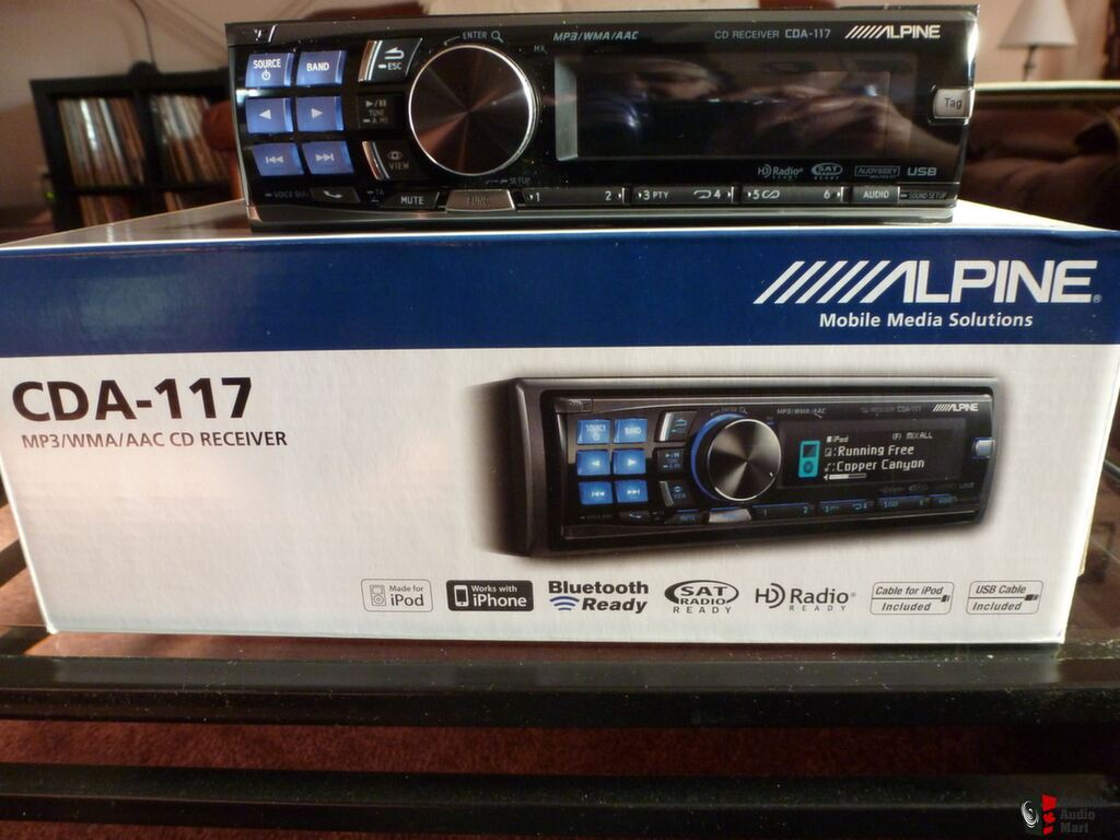ALPINE CDA-117 CD/USB IN DASH CAR RECEIVER-MINT-LIKE NEW